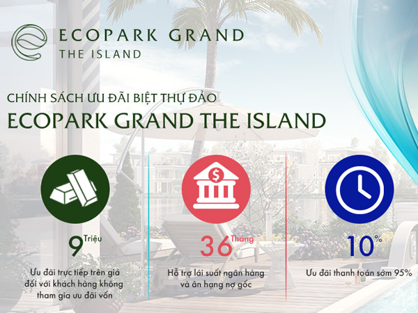 Biệt Thự Đảo Ecopark giá bao nhiêu