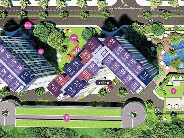 Tiện ích khu căn hộ West Bay residences