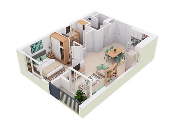 Căn hộ sky50 - West Bay residences