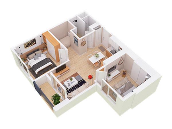 Căn hộ Sky55 - West Bay residences