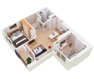 Căn hộ Sky60 - West Bay residences